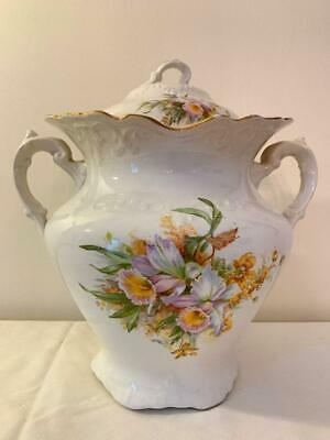 Vintage Porcelain Floral Chamber Pot from Wellsville China Company, Ohio