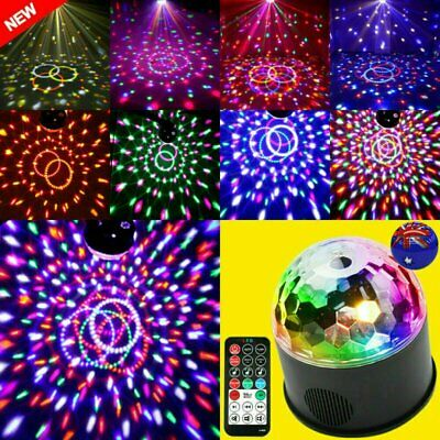 USB RGB LED Disco Ball Voice-Activated Stage Light Lamp Party Disco DJ