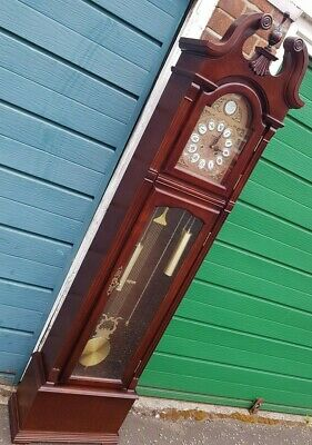 "Grandfather Clock - Vintage Tempus Fugit Smith & Sons - Full sized 77"" longcase"