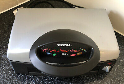 Tefal Grill Minute Deluxe 1700 Electric Multi Grill Panini Meat BBQ Tabletop