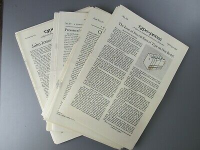 Group of 27 Issues of Type & Press Between No. 60 and 92, 1989-1997