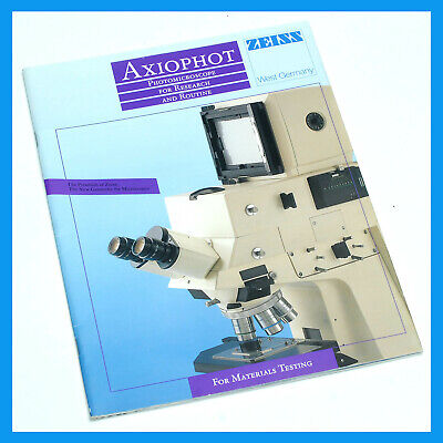 Zeiss Axiophot  Microscope 33 Pg. Full Color Sales  Brochure Pamphlet + POSTER!