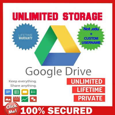 gsuite lifetime UNLIMITED google drive/gdrive [custom account] [not .edu]