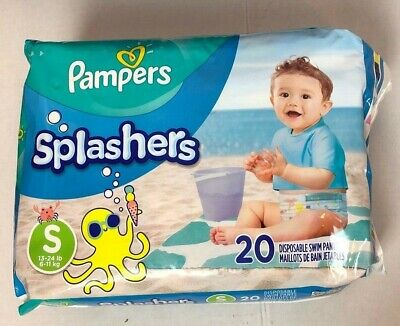 Pampers Splashers Baby Diapers Small 13-24 lb Disposable Swim Pants NEW