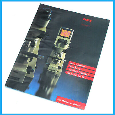 Zeiss Axioplan - Axiophot  8 page  Microscope Color Sales  Brochure Pamphlet