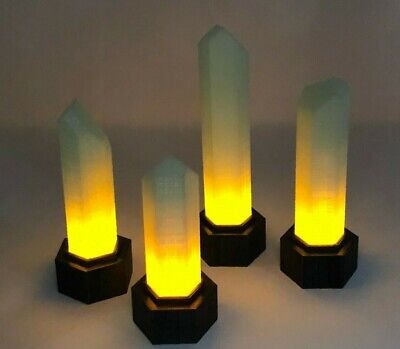 Stargate SG1 Goa'uld Light-Up Power Crystals-Set of 4-Glow in the Dark
