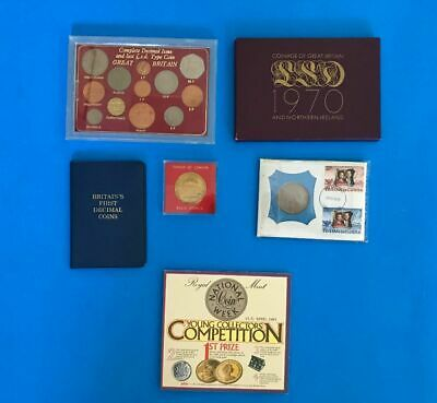 Great Britain's Coin Sets,  Proof Coins, Uncirculated coins & Medallion        m