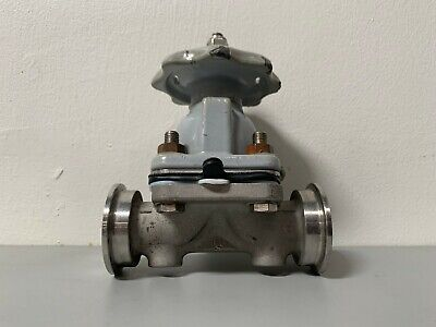 "ITT Grinnell Stainless Steel Diaphragm Valve w/ 1"" Sanitary Fitting"