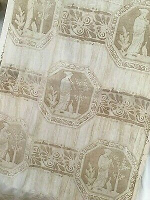 "Antique French Cotton Toile Fabric Empire Style  29.5"" x 100"""