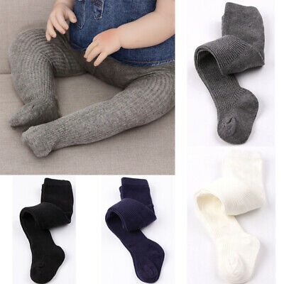 Toddler Baby Kids Girls Boys Pure Color Cotton Baby Tights