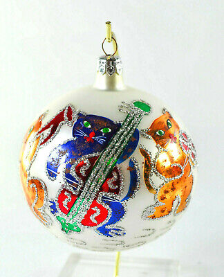 Vintage ' Swinging Pussycats Band' Christmas Ornament, C. Radko, Early 90'S