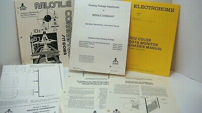 1980 Atari Missile Command Arcade Game Manual Operation Service Supplement +More