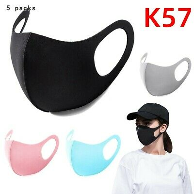5PCS Space Cotton Washable Reusable High Quality Mouth Face Muffle Cover Safe