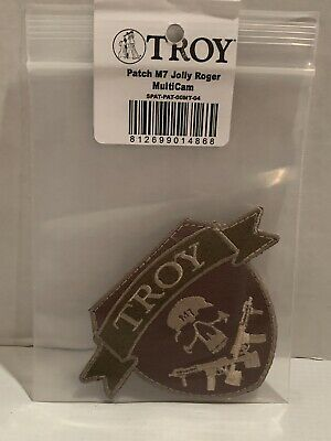 Troy Industries Military Weapon Manufacturer Multicam Jolly Roger Patch