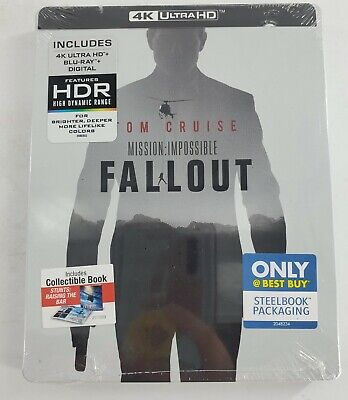Mission Impossible Fallout 4K Steelbook UHD Blu-Ray Brand New, Sealed.