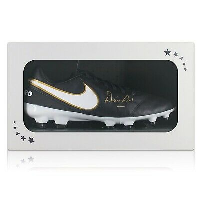 Denis Law Signed Football Boot Soccer Shoe Autographed Cleat Gift