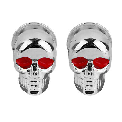2pcs Chrome Skull Motorcycle License Plate Frame Bolts Windshield Tag Screws