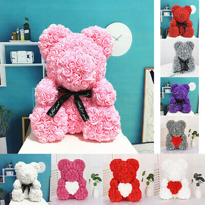 40cm Foam Rose Artificial Flowers Teddy Bear Decor Birthday Wedding Mother's Day