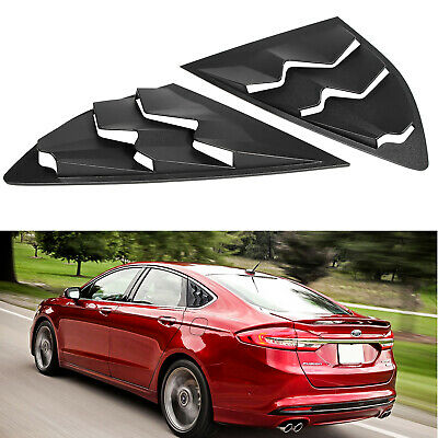 Side Window Louver Cover Sun Shade Vent ABS For 2013~2018 Ford Fusion(2PCS)