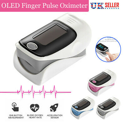 Fingertip pulse SpO2 Oximeter Blood Oxygen Saturation Meter Finger PR Monitor UK