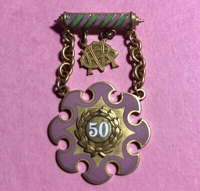 Vintage IOOF Odd Fellows -Rebekah 50 year Members - Service Pin- SD768