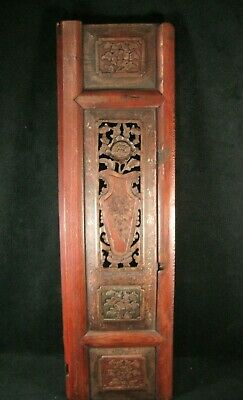 Antique Chinese 170 Year Old Qing Dynasty Hand Carved Wooden Carving