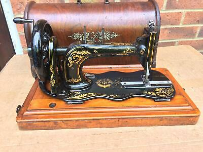 1884 Antique Singer 12k Fiddle base Hand Crank Sewing Machine