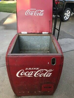 Rare Antique 1946 Coca Cola Cooler Ice Chest Cavalier Corp