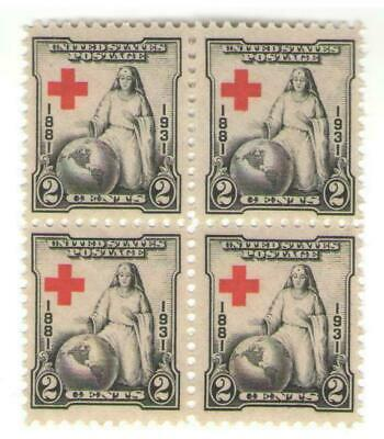 Nurse & American Red Cross Rare 86 Year Old Mint Vintage Stamp Block from 1931