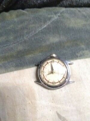 Vintage Westclox Men's Watch, Silver Pearl Dial, SS, 21J, Mech-Hand Wind, Works