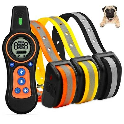 2600ft Dog Shock Collar Remote Electric Waterproof No Bark Pet Training for Dogs