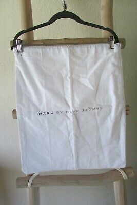 Marc Jacobs Ivory Flannel Cotton Draw String L Dust Bag