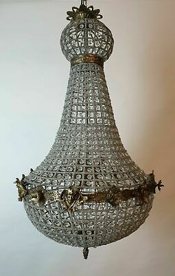 Large Empire Style Chandelier; Rewired and Restored. FREE DELIVERY