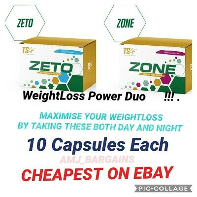Ts Life ZETO 10  and VOLT 10 Capsules Weight loss Duo Supply 100% GENUINE NEW