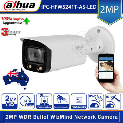 Dahua 2MP Full-Color Starlight IPC-HFW5241T-AS-LED Audio/Alarm ICR AI IP Camera