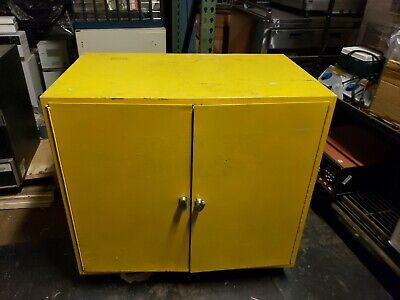 """35"""" X 35"""" X 22"""" 22 GAL. GALLON FLAMMABLE LIQUID STORAGE CABINET ☆Ships Freight☆"""