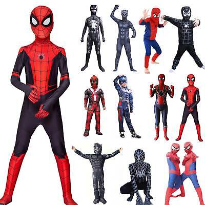 Spiderman Cosplay Body Suit Superhero Boys Kids//Adult Costume Fancy Dress UK