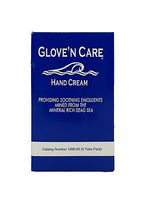 Glove 'n Care Hand Cream (6) 3.4oz (100ml) Tube - Hypoallergenic- Water Based