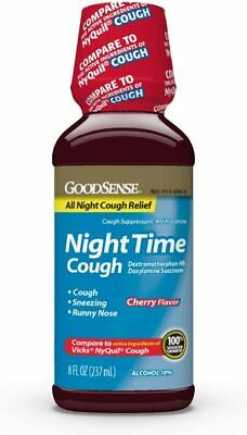 3 Pack of GoodSense Nighttime Cough Syrup for Cough Relief, 8 Fluid Ounce