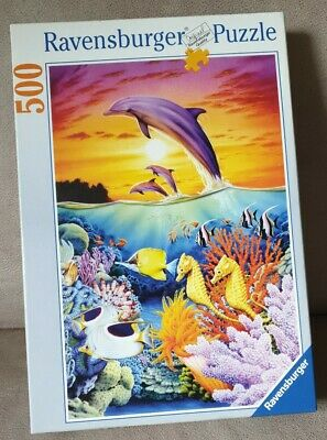 Fantastic Waterworld Dolphin Seahorse : 500 Piece Jigsaw Puzzle by Ravensburger