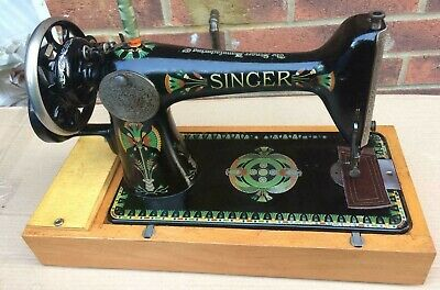 Singer 66k 'lotus' back clamp hand crank sewing machine
