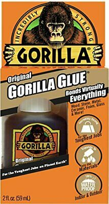Gorilla Original Waterproof Polyurethane Glue 2 ounce Bottle Brown Pack of 1