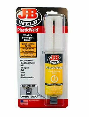 J-B Weld 50132 PlasticWeld Quick-Setting Epoxy Syringe -  Translucent Yellow ...