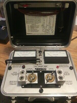 Remsco Cal-Vamp 1000 Heavy Duty Welding Current Calibration Instrument In Case