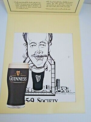 GUINNESS CARICATURES Art Of The Draw 1759 Society Original Advertising Souvenir
