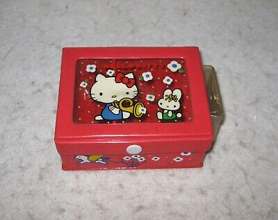 "Hello Kitty Box 4.5 x 3.75 x 2"" 1976 Sanrio Japan"