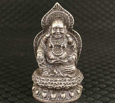 Chinese copper Hand carved buddha statue figure Talbe decoration Blessing Gift