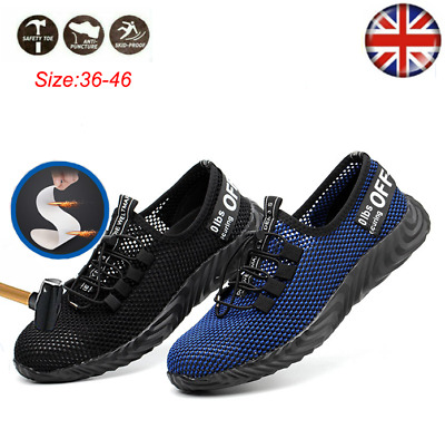 Safety Shoes Men Women Steel Toe Work Trainers Sport Lightweight Hiking Shoes