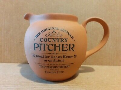 Henry Watson Terracota Pottery - The Original Suffolk Country Pitcher - 10 Cm H