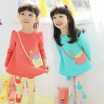 Cute Tracksuit Outfit Girls Toddlers Clothes Tops Autumn Spring Cotton